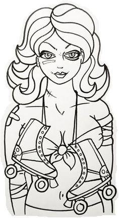 color a derby girl