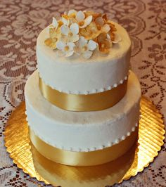 golden anniversary cake by Snacky French