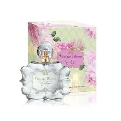 Vintage Bloom Jessica Simpson for women:Vintage Bloom is a new fragrance by pop star Jessica Simpson and the company Parlux, launched in 2012. It is a delicate floral scent, inspired by the romantic moments and the scents of meadow flowers in the evening.    It is signed by perfumer Stephanie Hakes. The top notes are lemon and Caipirinha lime zest. Peony and raspberry blossom form the heart, lying on the soft base of sandalwood and musk.