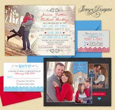 Wedding Invitation Template  Photographers and Photoshop by Jeneze, $10.00