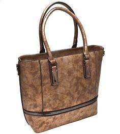HAND BAG 08 208 GOLD Oro Bronzo Borsa Mano Shopping Donna Grande Bauletto 18