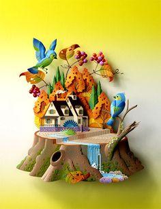 :: Crafty :: Paper :: Hideharu Naitoh paper sculpture