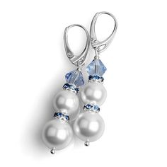 Bridal Pearl Earrings Wedding Swarovski Pearl by Advenche on Etsy, £12.99