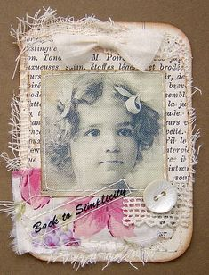 ATC Simply | Paper, fabric and transfer on fabric. | yitte | Flickr