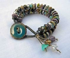 Those Shades bracelet by something to do with your hands - great idea for czech glass piggy beads