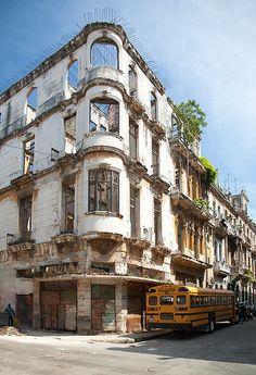 Empty building, Havana, Cuba.  Photo: Helena Normark, via Flickr