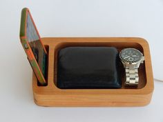 Personalized Phone Docking Station Father's by PerrelleDesigns