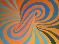 Za ovaj rad sam koristila toplu narandzastu i hladnu plavu boju. Primenom valera (postepenim smanjenjem svetlosti) dobila sam efekat ispupcenosti,3D efekat