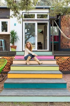 Loving these moorish copper designs on this beautiful bohemian style tiny house 400-Sq-ft-Bohemian-Style-Home-Austin-TX-007