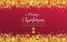 ž Free Vector Images, Vector Free, Free Vector Illustration, Christmas Banners, Happy New Year 2020, Elegant Christmas, Psd Templates, Merry, Classy Christmas