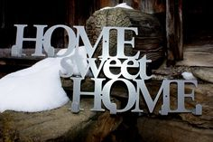 "Wieszak ""Home sweet Home"" srebrny matalic"