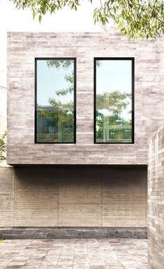 Slim, tilt and turn window with slim aluminium framing. Aluminum Windows Design, Aluminium Windows, Tilt And Turn Windows, Windows System, Thermal Insulation, Extension Ideas, Window Design, Sliding Doors, Facade