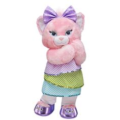 Shimmer & Stripes Blingy Kitty - Build-A-Bear Workshop US