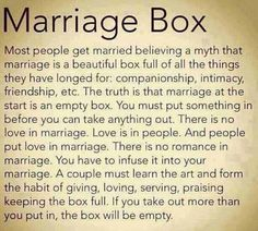 This is beautiful, and may be the reasons so many marriages end in divorce these days. Great advice.