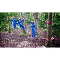 The low ropes course was a huge hit at Easton Primary today. #lowropes #forestschool #forestschoolleader #thegreatoutdoors #learningoutdoors #climbing #woods #woodland