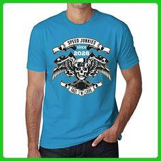 Speed Junkies Since 2028 Men's T-shirt Blue Birthday Gift - Birthday shirts (*Amazon Partner-Link)