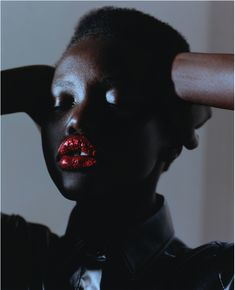 """miss-mandy-m: """"Makeup Mondays: Adut Akech photographed by Harley Weir for Le Monde Magazine, September Makeup by Lauren Parsons with hair by Soichi Inagaki. Grace Jones, Harley Weir, Beauty Makeup, Hair Beauty, Art Partner, Podium, Cream Blush, Beauty Routines, Pretty People"""
