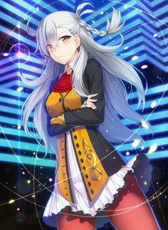 Anime 1894x2600 anime anime girls long hair gray hair orange eyes Fate/Grand Order Fate Series Olga Marie Animusphere (Fate/Grand Order)