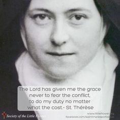 St. Therese Daily Inspiration: Our Lord has granted me the grace