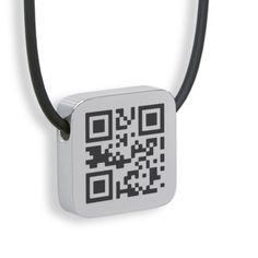 QR code necklace; create a custom message.