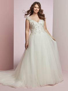 robe de mariée grande taille à haut appliqué de dentelle Appliqué De  Dentelle, Robe Mariée baa694e61728