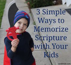 3 Simple Ways to Memorize Scripture with Your Kids