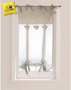 Tenda finestra Angelica Home & Country Collezione Cuoricini 60 x 160 cm