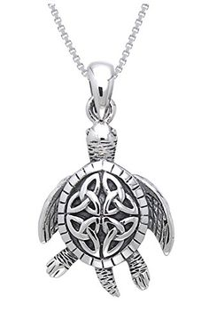 CGC Sterling Silver Celtic Turtle Trinity Knot Pendant with 18 Inch Box Chain Necklace Carolina Glamour Collection http://www.amazon.com/dp/B00DTW7LA8/ref=cm_sw_r_pi_dp_hvXSvb1W1CXW0