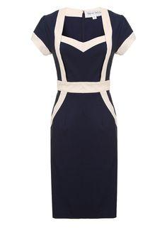 Dorothy Perkins Navy panel bodycon dress blue