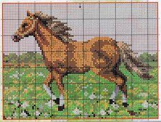 Resultado de imagem para caballo em punto croce