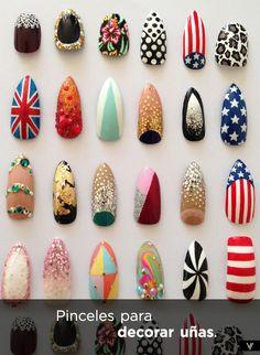 Haz click y mira los pinceles ideales para decorar las uñas.