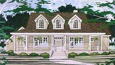 Country House Plan with 2596 Square Feet and 3 Bedrooms from Dream Home Source | House Plan Code DHSW74078