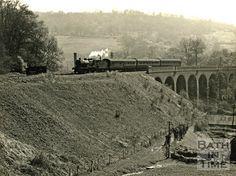 somerset and dorset railway   The Somerset & Dorset Joint Railway crossing Horsecombe Viaduct
