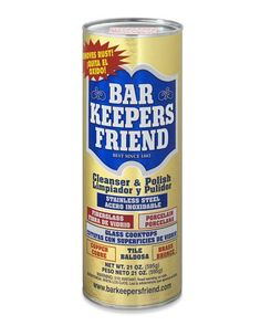 Bar Keepers Friend. The best stuff for cleaning almost anything. also comes in liquid form too.