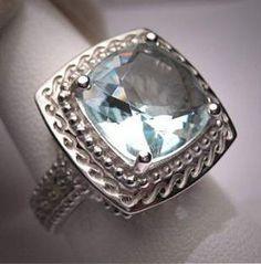 f644e80ef 40 Trendy Wedding Rings Vintage Aquamarine Art Deco Aquamarine Wedding,  Aquamarine Gemstone, Diamond Wedding
