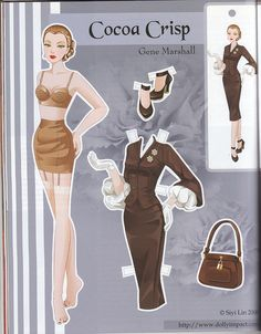 Cocoa Crisp Gene Marshall paper doll by Siyi Lin by atrikaa, via Flickr