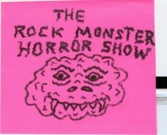 The rock Monster horror show