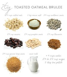 Toasted Oatmeal Brûlée - The Tig Recipe Files - Style Domination The Tig Meghan Markle, Gourmet Recipes, Healthy Recipes, Healthy Cooking, Vegetarian Recipes, Healthy Food, Baked Oats, Recipe Filing, Strawberry Recipes