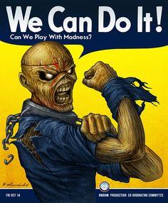 "Ilustration made for a brazilian Iron Maiden's tribute band, ""Donzela de Ferro""."