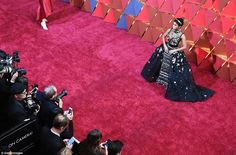 Perfection: Janelle Monae was perfection in her regal gown...