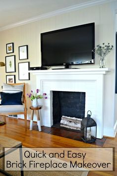 Schon An Easy Brick Fireplace Makeover That Can Be Done In A Few Hours With Just A