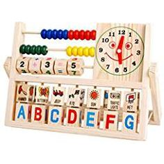 NEW Children Baby Kids Learning Developmental Versatile Flap Abacus Wooden Toys. There are numbers, letters, words, images in this toy. Toddler Toys, Baby Toys, Kids Toys, Children's Toys, Learning Toys, Early Learning, Learning Ability, Baby Games, Games For Kids