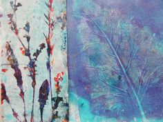 gelli plate - nature inspired - scrapitch