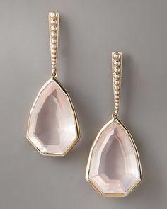Freeform Rose Quartz Earrings by Stephen Dweck at Bergdorf Goodman.