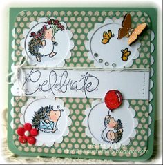 """penny black critter party   Using Penny Black clear sets """" Critter Party """" and """" Wonderful """""""