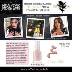 Priti NYC & English Miss à la New York Fashion Week Priti NYC backstage à la New York Fashion Week: Vernis à Ongles English Miss, un vernis doux, un rose très délicat pour une manucure fraîche et naturelle. Vernis à ongles non-toxiques, 5 free & vegan. #nails #pritinyc #pink #fashion #nyfw #trends #polish #manicure #delicat #ongles #vernis #vegan #nontoxic #luxury www.officina-paris.fr
