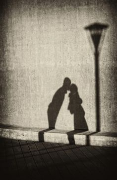 Shadows in love #photography #shadows #black #white #sepia