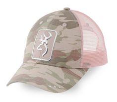 1a56bbf7bcb20f Womens Nwt Browning Buckmark Digby Cap Camo Pink Mesh Snap Back Hat  Baseball Cap