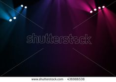 The concert on stage background with flood lights  - stock photo