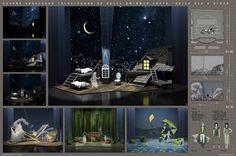Set design Peter Pan by Anna Lakhno, via Behance